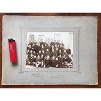 Большое фото до 1917 года, автографы, гимназия или училище?