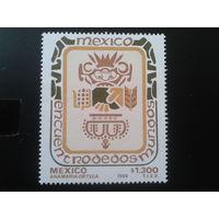 Мексика 1989 межд. встреча, символы Мексики и Испания