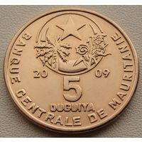 Мавритания. 5 угий 2009 год КМ#3b