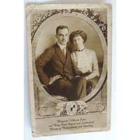 """Открытка """"Принцесса и принц"""" 20-30-е годы."""