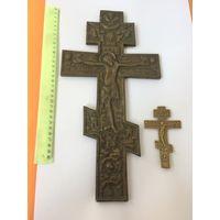 Крест Распятие Бронза 19 век