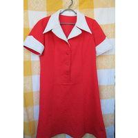 Платье кримпленовое времён СССР,винтаж,60-70-е годы