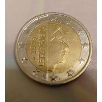 2 евро 2009 Люксембург. Тираж ВСЕГО 240 тыс. шт. !!!