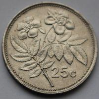 Мальта, 25 центов 1991 г