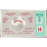 1988 год Харьков Металлист Футбол 14-й тираж
