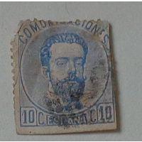 Король Амадей I. Испания. Дата выпуска:1873-01-01  !!!