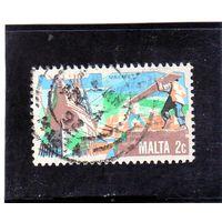 Мальта.Ми-638. Древнее судостроение. Серия: История мальтийской промышленности 1981.