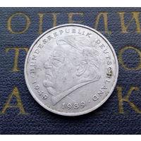 2 марки 1990 (J) Франц Йозеф Штраус Германия ФРГ #01