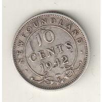 Ньюфауленд  10 цент 1942