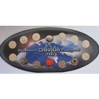 Канада, набор 12 х 25 центов, 2000, миллениум
