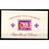 Либерия - 1967г. - Скауты - полная серия, MNH [Mi bl. 40] - 1 марка