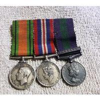 3 Медали Англия Летчика Фрачник