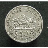 Бр. Восточная Африка 50 центов 1963 (224)