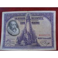 100 песет 1928 год Испания