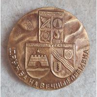Медаль настольная Дружба на вечные времена (Наро-Фоминск, Даугавпилс, Екабпилс). СССР
