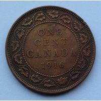 Канада 1 цент. 1916