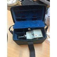 Киноаппарат (кинокамера) Кварц 5 Объектив Метеор -2-3 насадочные линзы 1971 год