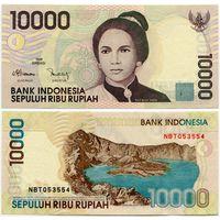 Индонезия. 10 000 рупий (образца 1998 года, выпуск 1998, P137a, UNC)