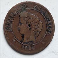 Франция 5 сантимов, 1896 3-12-7