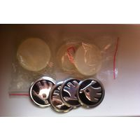 Колпачки c наклейками на литые диски skoda