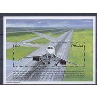 [1231] Палау 1995. Авиация.Самолет. БЛОК.
