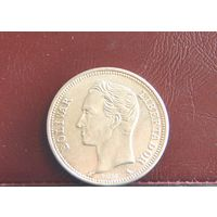 Венесуэла. 2 боливара. 1960г.  0,8350 Серебро
