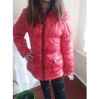 Куртка красная камуфляж на девочку 10-11 лет круто
