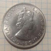 Бермуды крона 1964г серебро