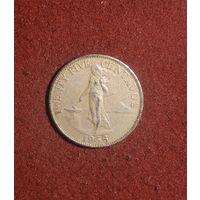 25 centavos 1958 год филиппины