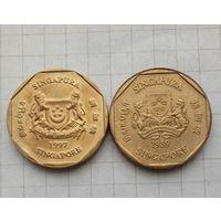 Сингапур.1 доллар 1989г и 1997г Две разновидности