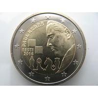 Эстония. Монета номиналом 2 евро 2016 года (Кернес)