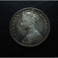 """Англия """"безбожный флорин"""" 1849 год (серебро)"""