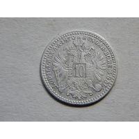 Австро-Венгрия 10 крейцеров 1870г