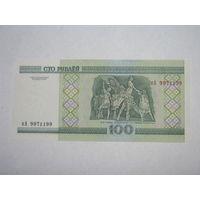 100 рублей ( выпуск 2000 ) серия кА,  UNC