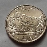 25 центов, квотер США, штат Колорадо, D