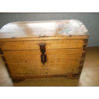 Сундук старинный антиквариат  ручная работа на деревянных клиньях