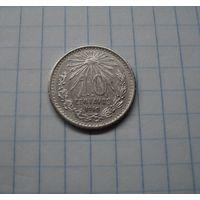 Мексика 10 сентаво (центавос) 1910, серебро