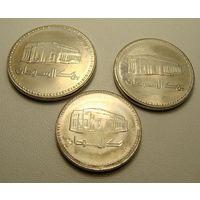 Судан.  набор из 3 монет 25, 50 киршей  1 фунт 1989 год