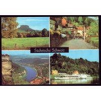 Германия Саксонская Швейцария Пароход