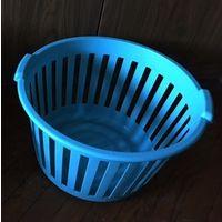 Корзина емкость пластиковая цвет бирюзовый