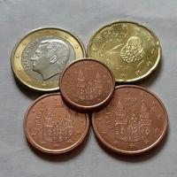 Набор евро монет Испания 2018 г. (1, 2, 5, 20 евроцентов, 1 евро)