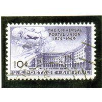 США.Ми-601. Здание почтового отделения. Серия: U.P.U. (Всемирный почтовый союз), 75-летие. 1949.