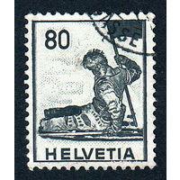54: Швейцария, почтовая марка, 1941 год, номинал 80с, SG#408