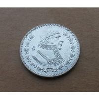 Мексика, 1 песо 1960 г., биллон