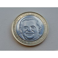"Камерун. 4500 франков 2005 год ""Бенедикт XVI"" X#24"