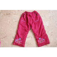 Утепленные штаны для дев. 1,5 - 2 года