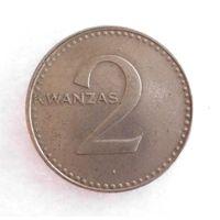 2 кванзы 1977 Ангола 11 ноября 1975 Независимость