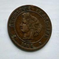Франция 5 сантимов, 1896 2-8-6