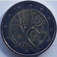 Эстония 2 евро 2017 Дорога Эстонии к независимости UNC из ролла
