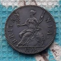 Великобритания 1/2 пенни 1773 года. Король Георг III. RR